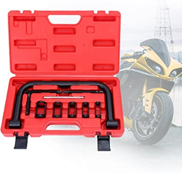 Bmot Universal Ventilfeder Ventilfederspanner Montage Werkzeug Ventilfederpresse Satz 10 Tlg Mit Koffer Für Motorräderr Auto