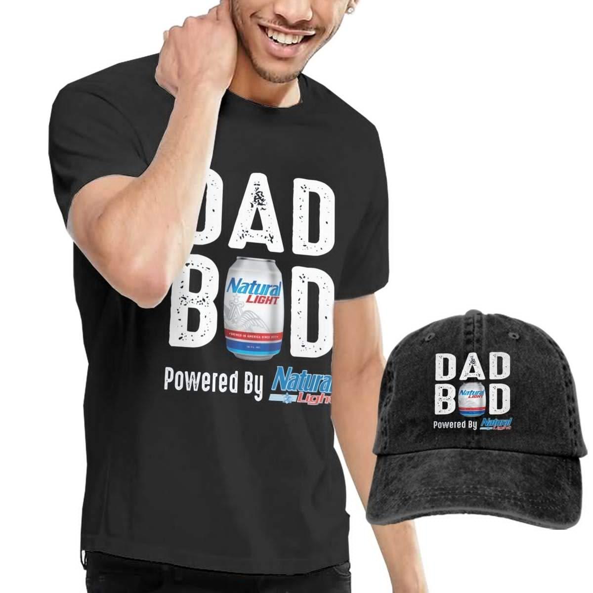 Hfusih.fhs6f789 Dad BOD Powered by Natural Light Adult Cap Adjustable Cowboys Hats Baseball Cap XL Black