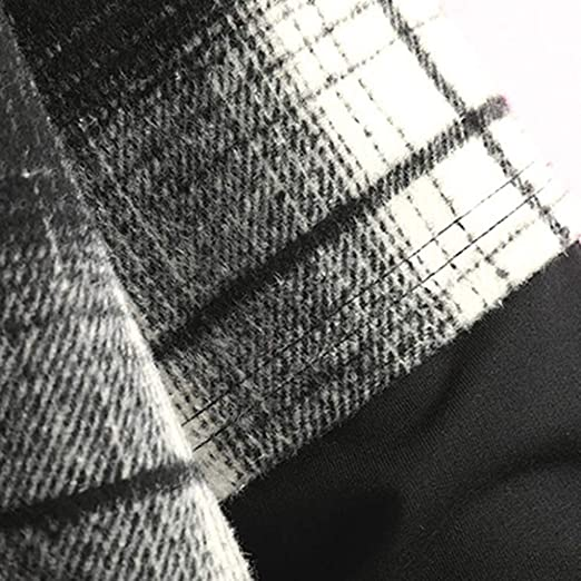 HOSD Feitong Pocket Hoodies Hombres Casual Moda Plaid Printing ...