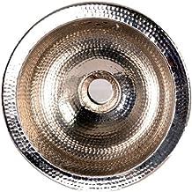 """13"""" x 13"""" Round Hammered Undermount Bar Sink Finish: Nickel"""