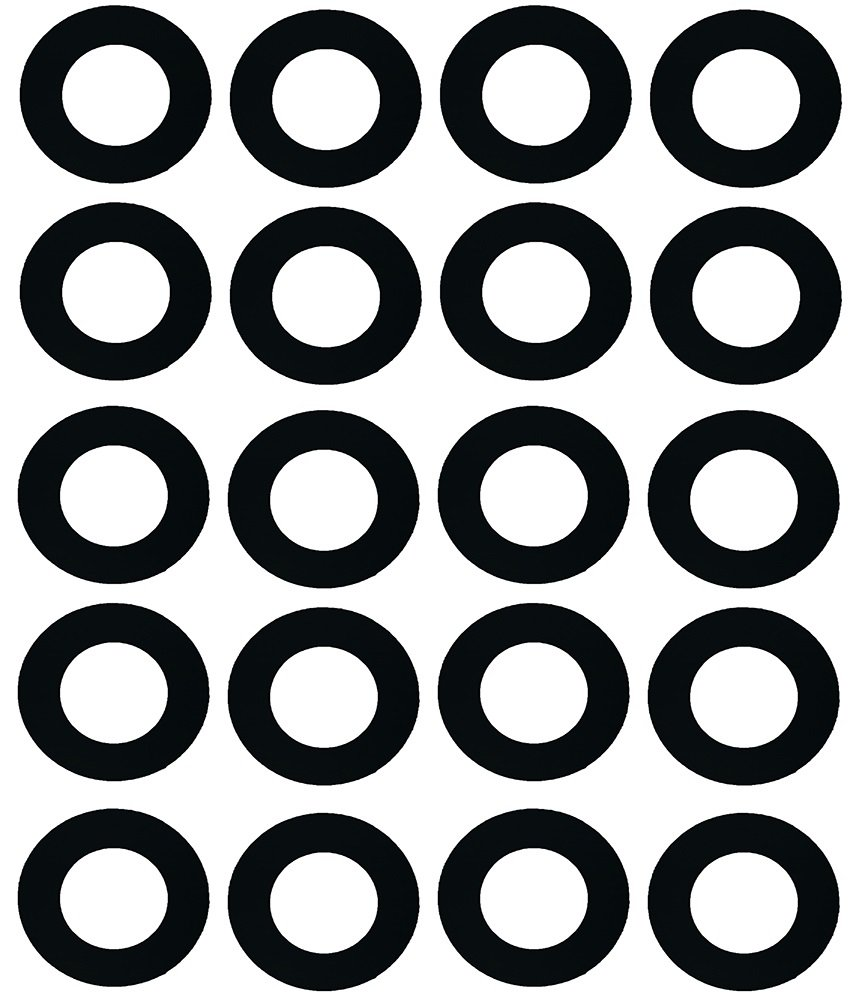 Sterling Seal CRG7106.1250.031.150X20 7106 Rubber 60 Durometer Ring Gasket, 1-1/4'' Pipe Size, 1/32'' Thick, Pressure Class 150#, 1.66'' ID, Neoprene (Pack of 20) by Sterling Seal & Supply, Inc. (STCC)