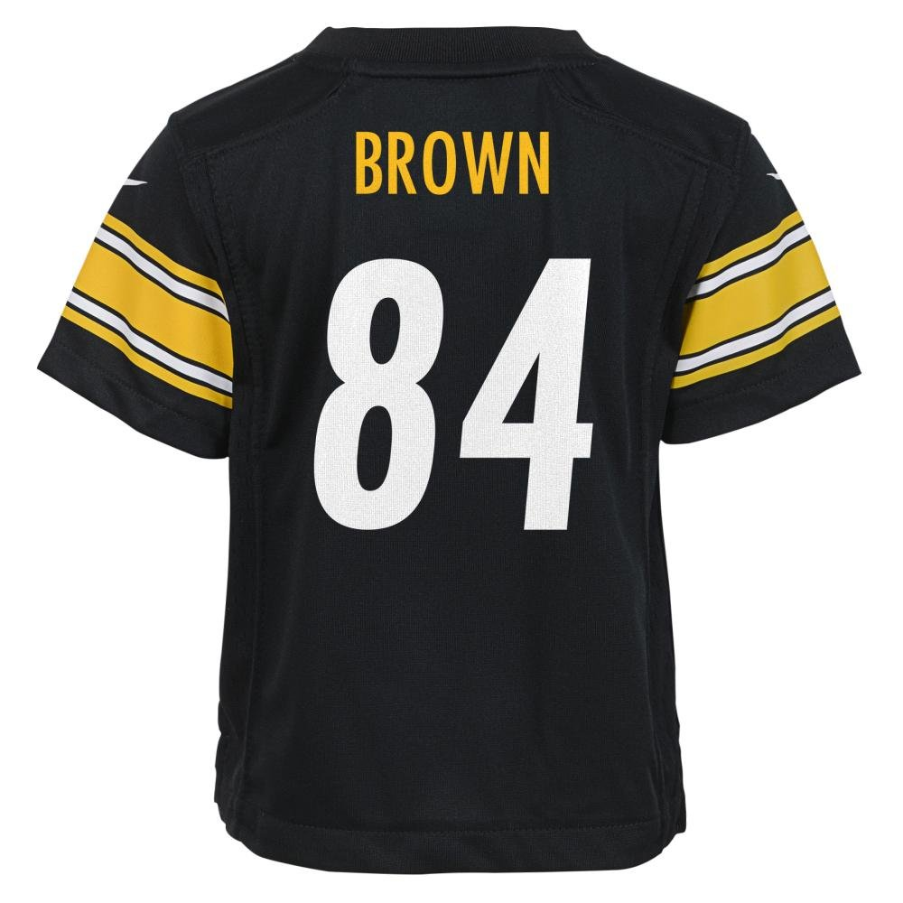 66d57b2d248 Amazon.com   Nike Antonio Brown Pittsburgh Steelers Kids (Pre-School) Jersey  -Black (Small 4)   Sports   Outdoors