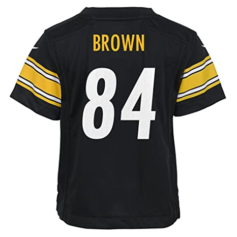 aeebe7c43 Nike Antonio Brown Pittsburgh Steelers Kids (Pre-School) Jersey -Black  (Small