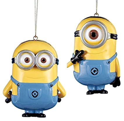Minions Christmas.Despicable Me Dave And Carl Minions Christmas Ornament Set Of 2