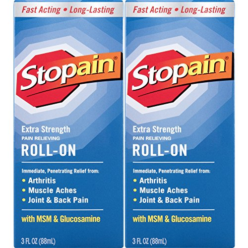 Analgesic Topical Pain Relief Spray - Stopain Extra Strength Pain Relief Roll-On 3 Ounce (2 Count) Relieves Muscle and Joint Pain