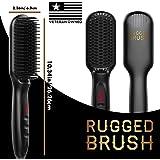 Beard Straightener Comb for Men - Straightening Heat Brush - Mens Heated Hot Electric Hair Combs for Straightening and Styling Beards - Grooming Ionic Air Straightner Kit Products