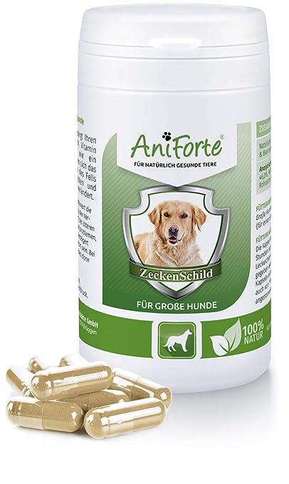 Pastillas AntiGarrapatas para Perros Grandes (+35kg) - 60 cápsulas | Producto 100% Natural | Complejo de Vitamina B que Actúa como Escudo Anti Garrapatas: ...