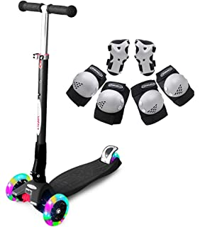 Amazon.com: ChromeWheels Scooter for Kids Foldable with 3 PU ...