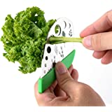 9 Holes Herb Cutter Stripper Stainless Steel Vegetable Leaf Stripper Cutter Home Kitchen Peeling Tool for Kale, Chard, Collar