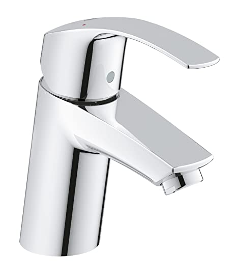 GROHE 3246720L Eurosmart Basin Tap with Smooth Tap Body, Universal ...