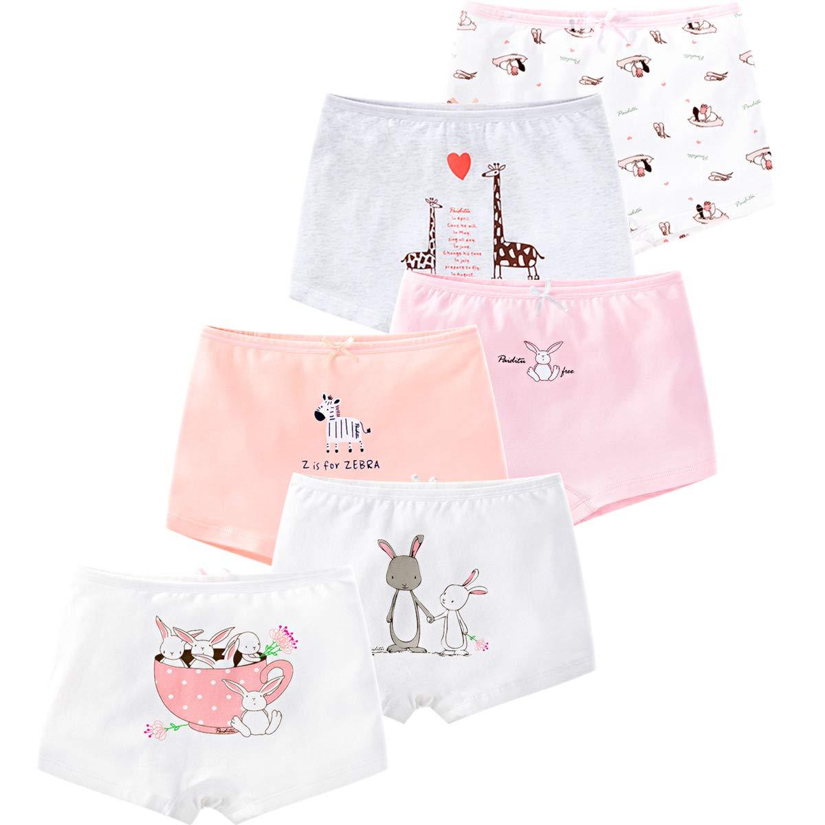 116f63e6f94 LeQeZe De 6 Bébé Fille Panty Culotte Filles Shorty Enfants Coton Boxer Slip  Pantalon sous-