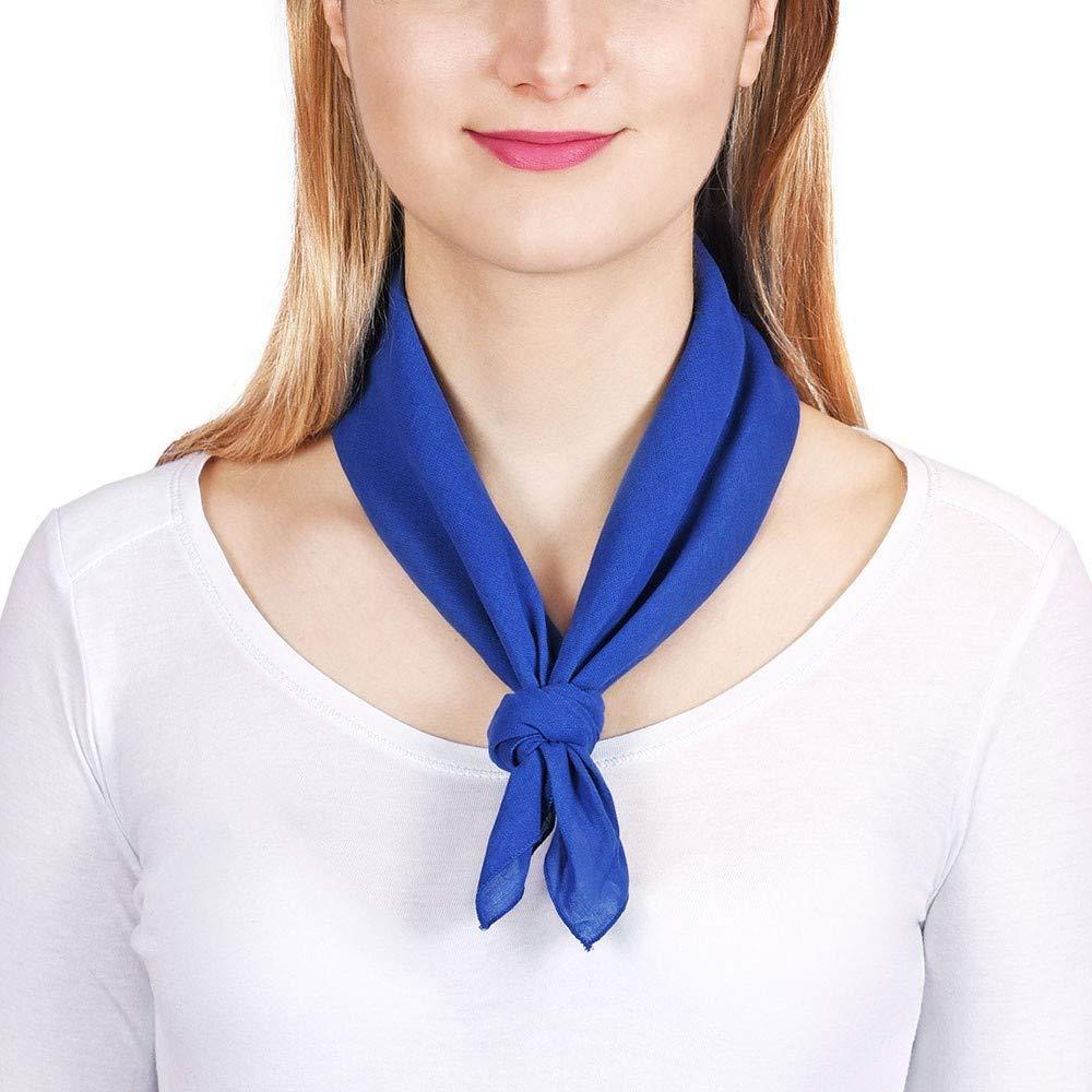 All/ée du foulard Bandana coton Marine uni