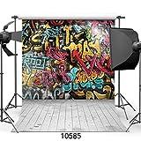 SJOLOON 10X10ft Graffiti photo wallpaper street art graffiti wallpaper street style mural Great Art Photography Backdrop Photo Background 10585