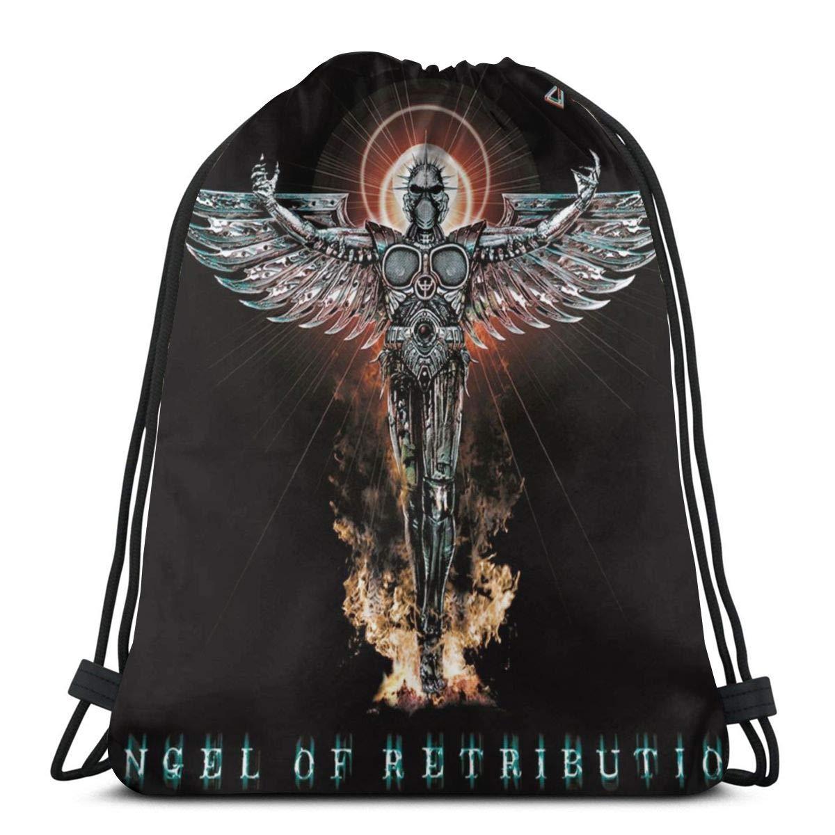 MFINOTshirt Judas Angel Retribution Priest Drawstring Bag Saca La Mochila Cuerda Unisex con Bolsas Zapatos para Deporte Gimnasio Senderismo Bicicleta Nadar