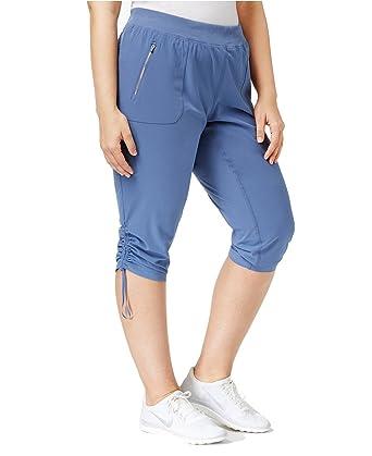 ceb54c3af3e Amazon.com  Calvin Klein Performance Women s Plus Size Drawstring Capri  Pants  Clothing