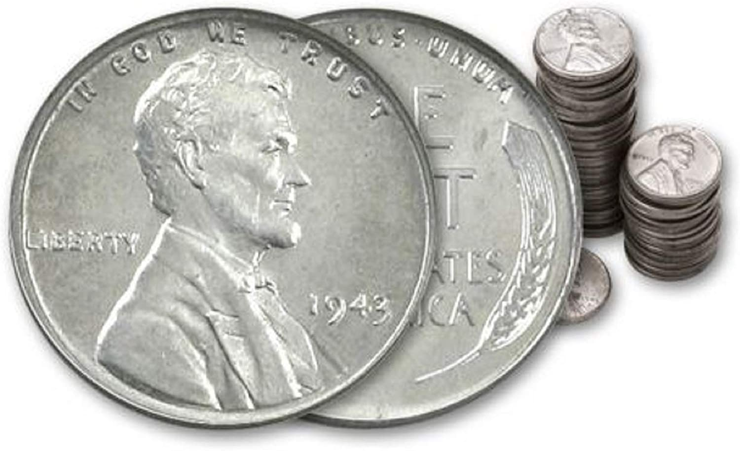 Amazon Com Full Roll Of 1943 Circulated Steel Pennies By Us Mint