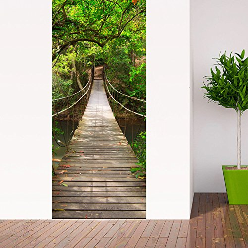 Free shipping casefan 3d drawbridge door wall mural for 3d wallpaper for house in malaysia