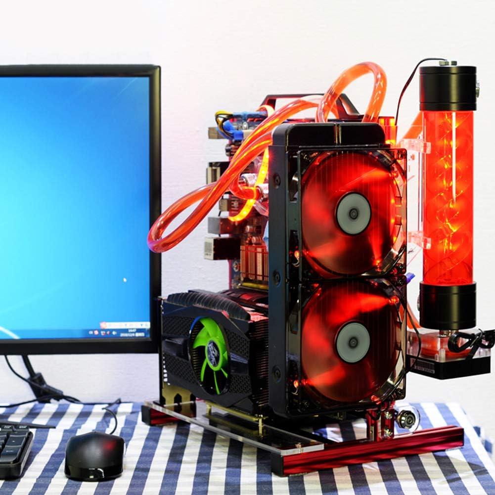 Rojo Kafuty PC Caja de la computadora ATX//M-ATX//ITX Chasis Abierto Overclocking Vertical Bastidor de chasis de Marco de Aluminio Abierto con Buena disipaci/ón de Calor