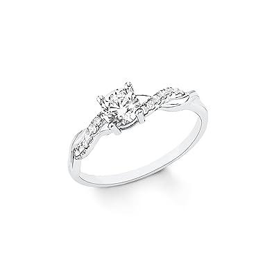 50f28f0310e9 S.Oliver Damen Ring elegant 925 Silber rhodiniert Zirkonia weiß  Amazon.de   Schmuck