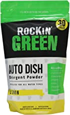 Rockin' Green Auto Dish Dishwasher Detergent, 16 oz. - All Natural, Biodegradable, and Eco-Friendly