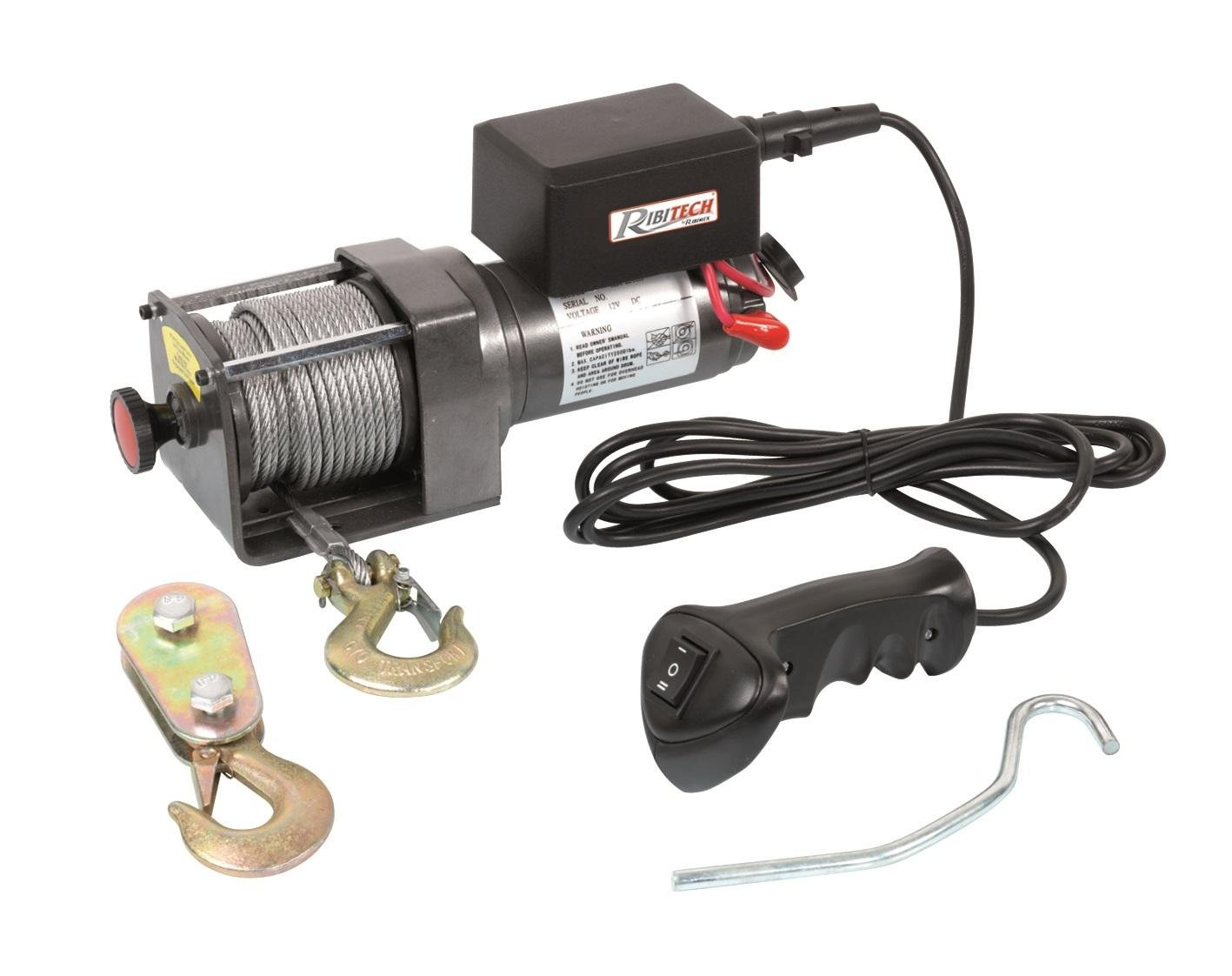 Ribitech 2.2  Tonnes AV and AR 2355  Electric Cable Winch 12  V Black