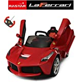Ricco 82700 Official Ferrari Licensed LaFerrari Kids 12V Electric Ride On Car with MP3 and Remote Control-Red