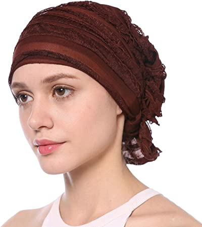 Turban Chimio Mode Coiffe Boh/ême Bandeau Vintage Chapeau Turban Musulman pour Canc/éreux Musulman Perte de Cheveux Cracklight Turban Femme Mode
