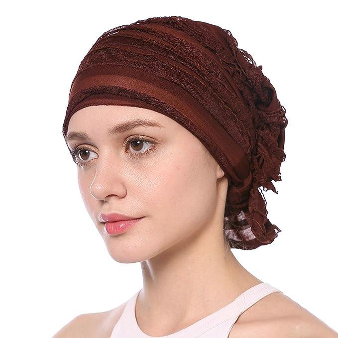 Aihome Turban Damen Sommer Bandana Kopftuch Hut Frauen Chiffon