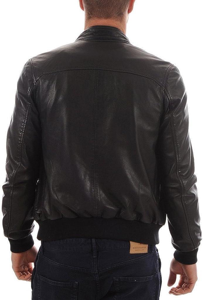 Mens Slim Genuine Lambskin Leather Designer Motorcycle Jacket LF669