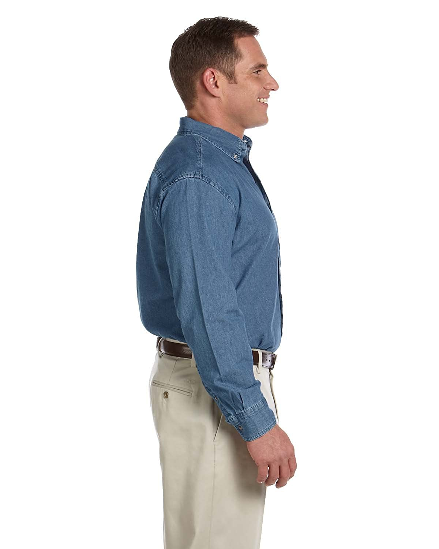 62a87c4d724 Harriton Men s Long-Sleeve Denim Shirt M550 at Amazon Men s Clothing store   Button Down Shirts