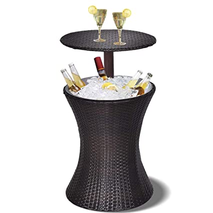 Amazon Com Giantex Outdoor Cool Bar Rattan Style Patio Cool Bar