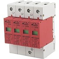 AC 420V 60kA Max 30 kA Corriente En 3P + N Montaje en carril DIN Protección contra sobretensiones pararrayos del dispositivo