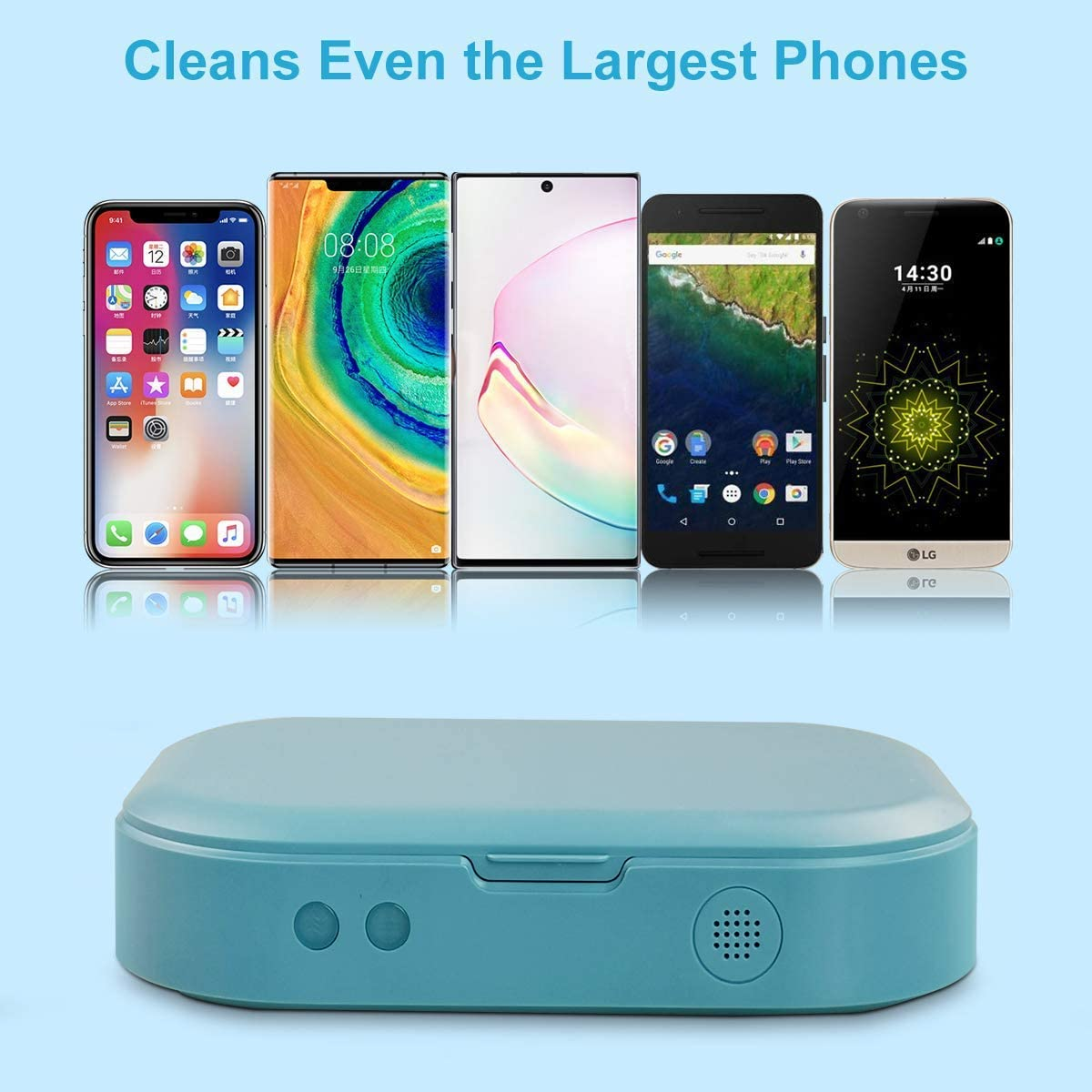 Portable Cell Phone Sterilizer,Aromatherapy Function Disinfector UV Cell Phone Sanitizer Phone Cleaner Box for All iPhone Android Cellphone Toothbrush Salon Tools Jewelry Watches