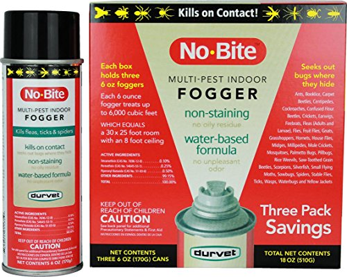 Durvet 011-1135 No-Bite Multi-Pest Indoor Fogger (3 Pack), 6 oz -  698798