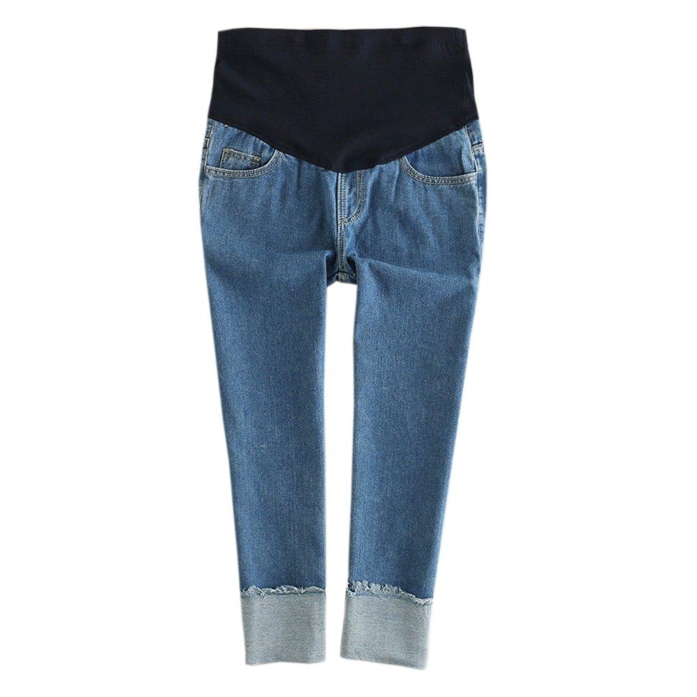 90f3b50bb4bf0 Hzjundasi Donna Leggings jeans Premaman Maternità Pantaloni elastica ...