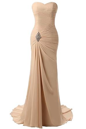 LIANJIE Chiffon Mermaid Bridesmaid Dresses Wedding Guest Gowns Long ...