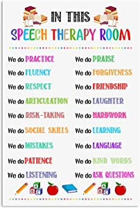 Audree Speech Language Pathologist Poster We Do Practice Fluency Respect Wall Art Hanging Painting Paper Photography Watercolor Living Classroom Home Decor No Frame