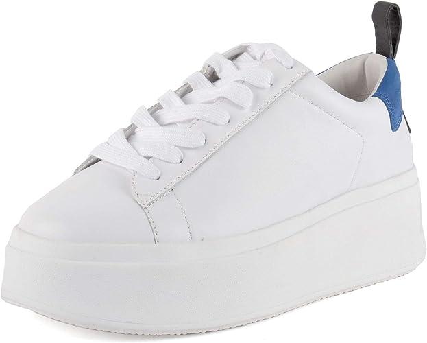 Ash Moon Zapatillas con Plataforma de Cuero Blanco y Ante