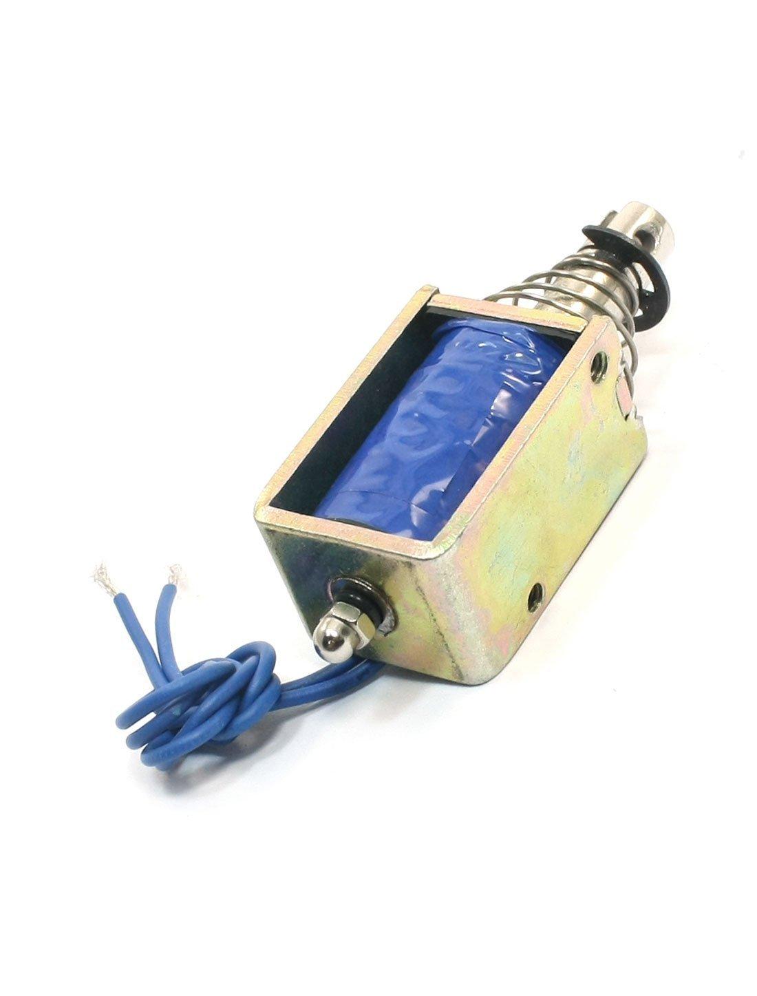 Amazon.com : DC24V 25N / 10mm Tire tipo de inserción DE 2 Cables del conector del electroimán del solenoide : Baby