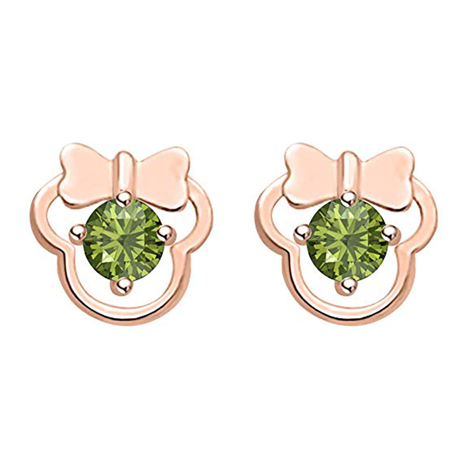 MD Jewellery Disney Mickey Earrings Collection 14K Gold Fn Round CZ Gift For Girls Womens