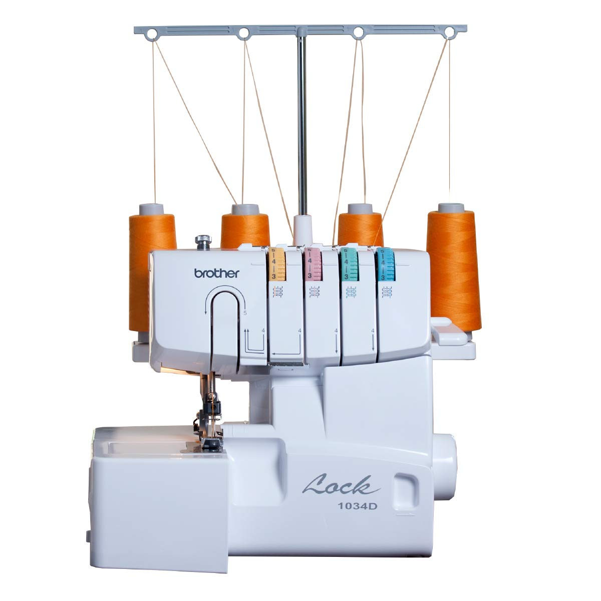 Brother Serger, 1034D, Heavy-Duty Metal Frame Overlock Machine, 1,300 Stitches Per Minute, Removeable Trim Trap, 3 Included Accessory Feet
