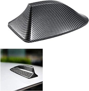 KKmoon Antena de Coche Aleta de Tiburón Radomo de Coche Universal, Fibra de Carbon