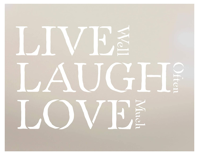 Live Laugh Love 100 Stencil
