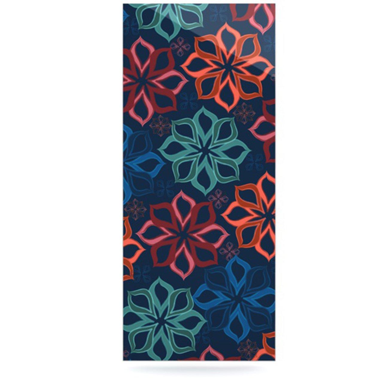 24 X 36 Kess InHouse JH2002AWR03 Jolene Heckman Floral Charm Blue Flowers Luxe Rectangle Panel