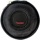 "Mini-Etui - ""Thanks"" (Danke) nur 7cm Ø , z.B. Hülle für iPod Shuffle oder Case für Ohrhörer, bzw. Kopfhörer (iPhone, iPod, iPad, S3 etc.) oder für SD-Karte, USB-Stick"