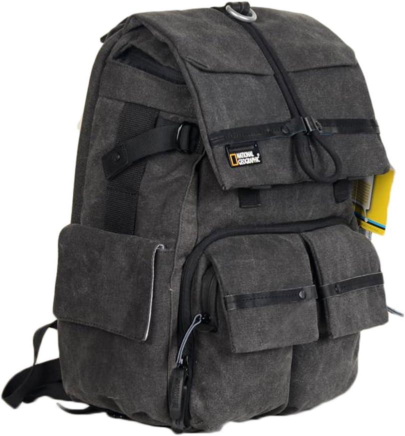 Men and Women Canvas Casual Camera Bag Double Shoulder SLR Camera Computer Backpack