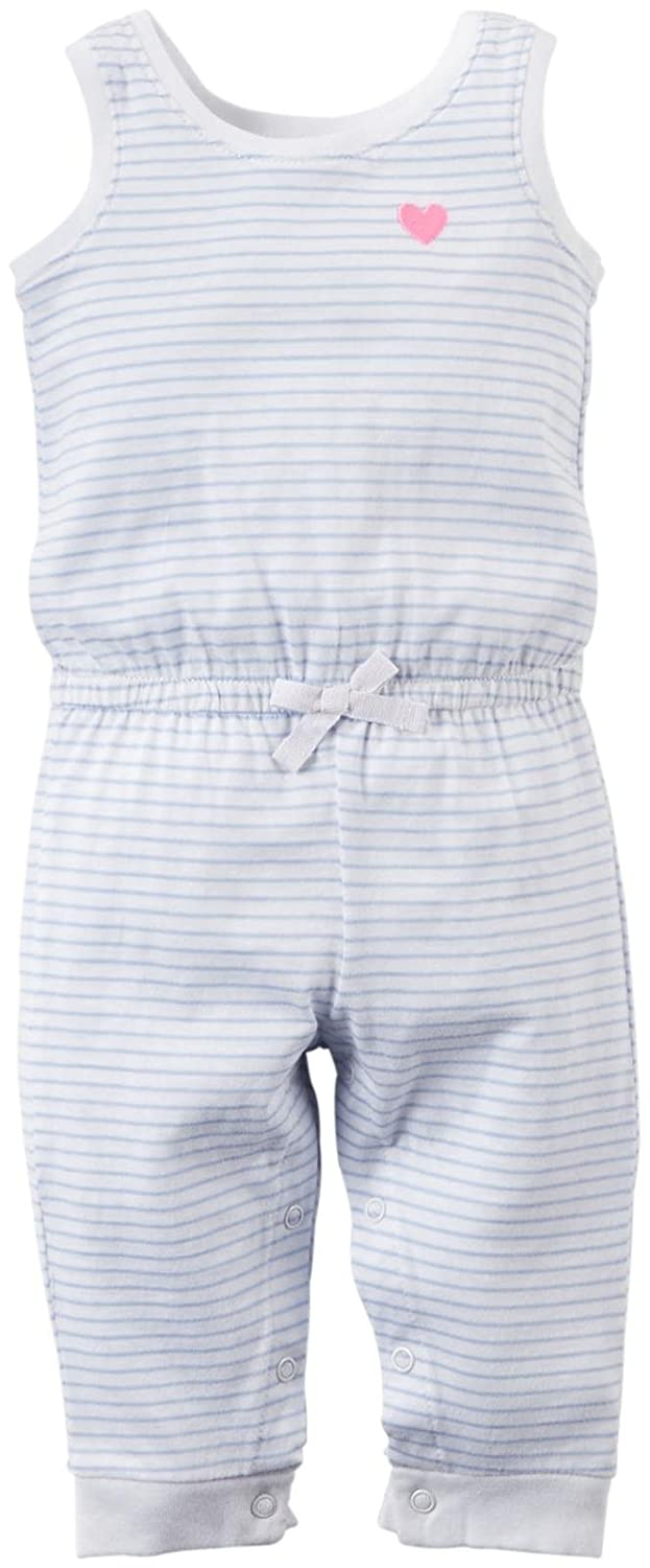Carters Baby Girls Striped Jumpsuit 118g309