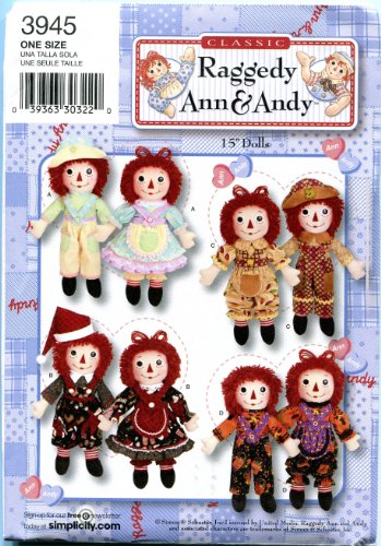 (Simplicity Sewing Pattern 3945 Raggedy Ann & Andy 15