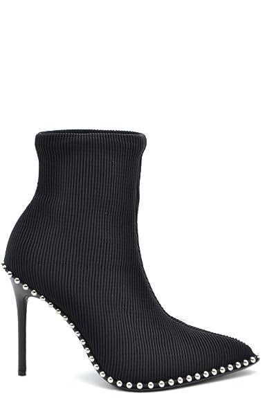 brillance des couleurs Nouveaux produits le prix reste stable Alexander Wang Femme MCBI37959 Noir Tissu Bottines: Amazon ...