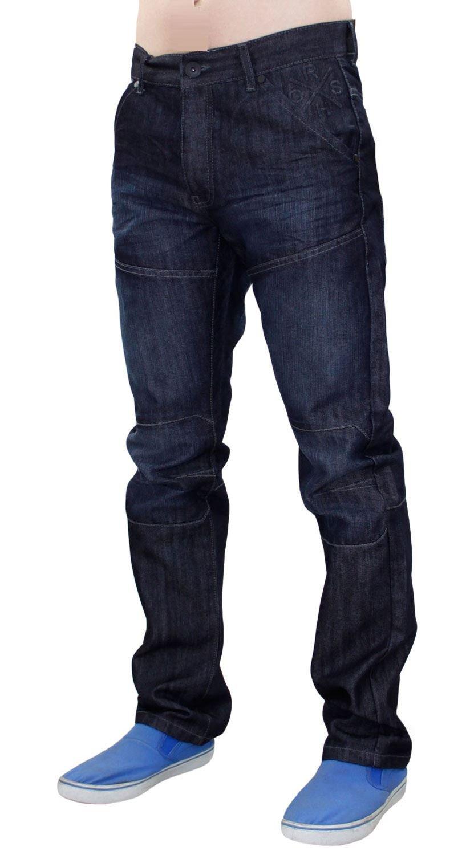 Neue Mens Designer Schraffur beschichtet regelmäßig Fit Straight Leg Jeans  Hose Denim: Amazon.de: Bekleidung